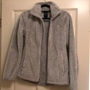 North Face fuzzy zip up